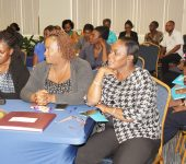 A cross section of the audience at the Cash Book Training Workshop held at the Victor E Bruce Financial Complex