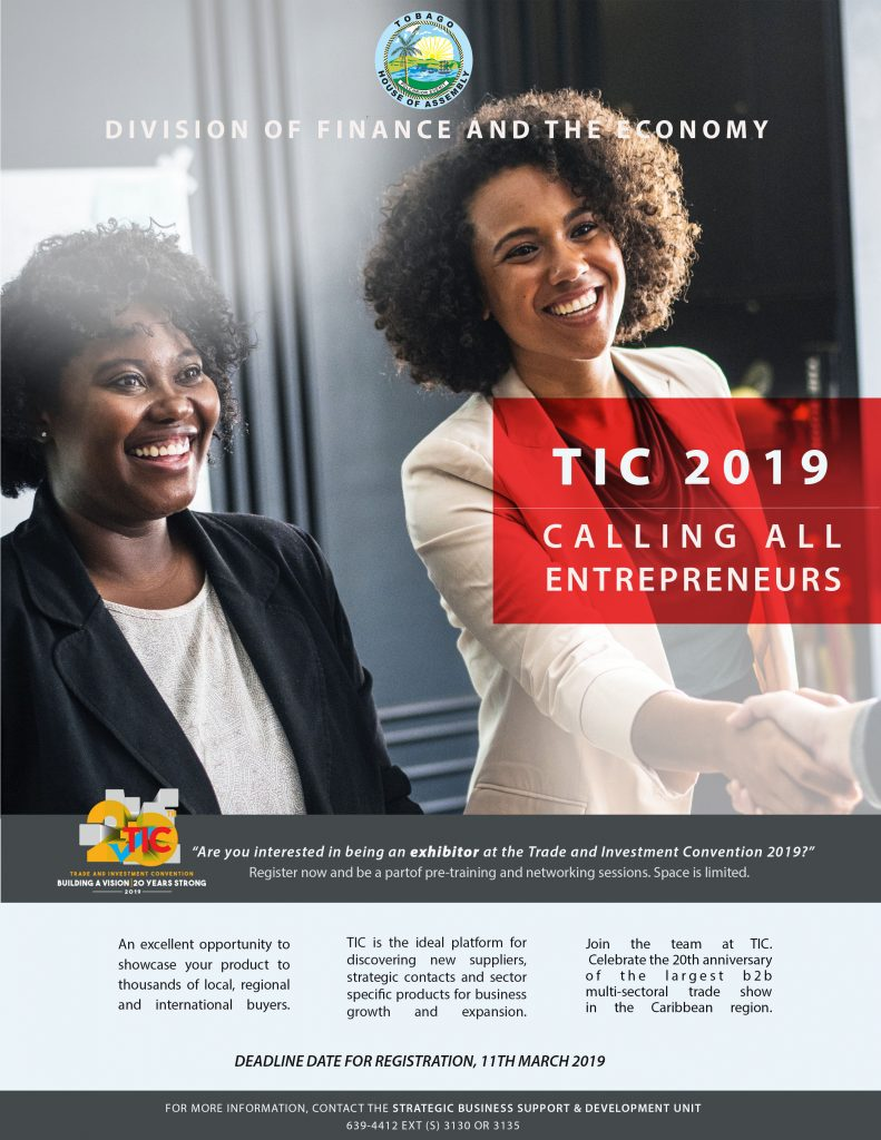 TIC 2019 - Calling All Entrepreneurs