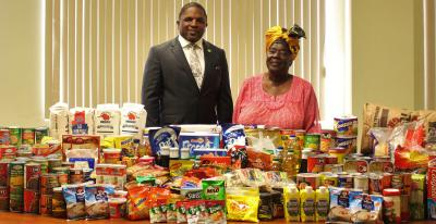 Division of Finance and Enterprise Development Donates Food Items To Family First Foundation